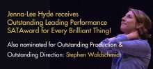 Jenna-Lee Hyde receives SATAward for Every Brilliant Thing performance